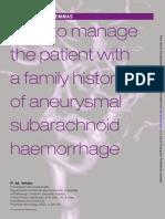 Aneurysm family history