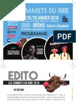 """Programme du festival de l'humour """"Les Sommets du rire"""" à Arêches-Beaufort"""