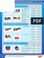 GPI Price List Welding Machine