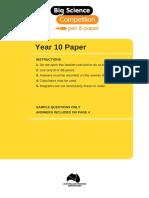 Year 10 Sample Paper