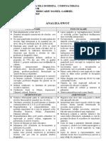 Analizaa Swot- Comisia Dirigintilor