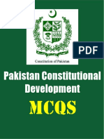 Pakistan Constitutional Development Multiple choice questions