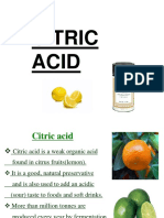 Industrial Production of Citric Acid