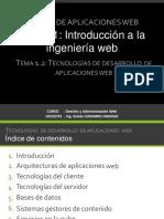 Introducción a la ingeniería web
