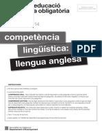 COMPETÈNCIES BÀSIQUES TEST 4ESO 2014