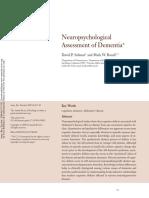 Neuropsychological Assessment of Dementia David P. Salmon
