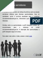 CADE RECRUTA SERVIDORES.pdf