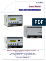 Multi Function Transducer User Manual