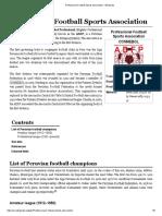Professional Football Sports Association - Wikipedia
