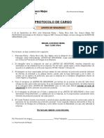 Protocolo de Cargo LENTES.DOC