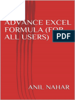 Advance Excel Formula for All Users