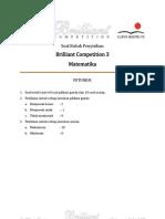 Soal Babak Penyisihan Brilliant Competition 3 Matematika