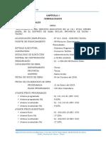 Informe de Valorizacion Nro 01
