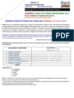 General Studies Interactive Ias Main Test Series Programme 2011 Module i1