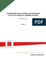 ADEME_Vocabulaire Des Systèmes de Conversion PV de l'Énergie Solaire