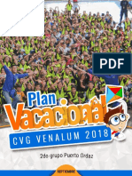 Revista rasemana Plan Vacacional Venalum