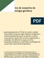 resumen Criterio de Sospecha de Patología Genética