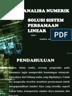 Khaerul Amri - Slide Presentase - Solusi Sistem Persamaan Linear