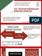 Reacciones Transfusionales No Inmunológicas