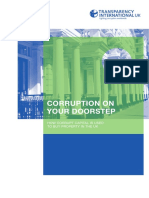 Transparency International - Corruption on Your Doorstep