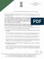 Mallikarjun Kharge's dissent note