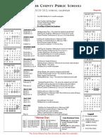 2020 to 2021 Fauquier school calendar
