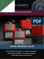Allvalves Price List 2017 Actuators and Accessories