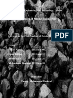 Report on the Coal Analysis