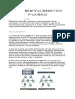 Aplicaciones de Redes Ethernet y Rede Inhalambricas