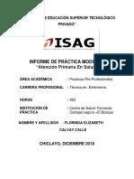 Revisión Del Informe de Práticas - Estudiante Calvay Calle