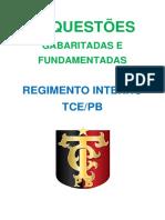 Exercicios Do Regimento Interno Do TCEPB (1)