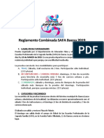 Reglamento Combinada SAFA Baena 2019