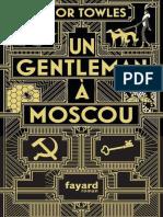 Un Gentleman a Moscou - Amor Towles