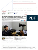 All Aadhaar Users May Soon Be Able to O..