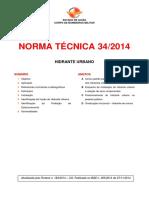 NT 022 - Sistemas de Hidrantes e de Mangotinhos p Comb a Incêndio Antiga