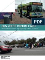 Final Bus Route Report Card