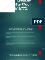 Hydrogen Bonding as the Basis of Life