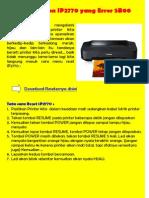 Reset Canon IP2770 Yang Error 5B00