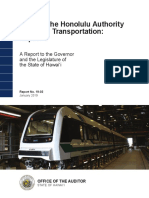 Audit of the Honolulu Authority for Rapid Transportation
