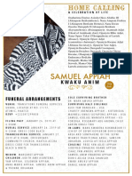 Samuel Appiah Funeral Announcement