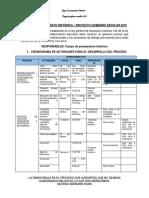 Cronograma Elección Gobierno Escolar 2019.