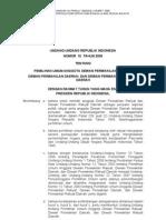 Undang-Undang Republik Indonesia Nomor 10 Tahun 2008 Tentang Pemilihan Umum Anggota Dewan Perwakilan Rakyat, Dewan Perwakilan Daerah, Dan Dewan Perwakilan Rakyat Daerah