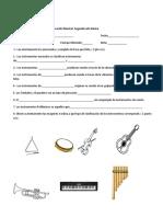 Prueba Clasificación de Los Instrumentos
