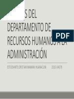 Aportes Del Departamento de Recursos Humanos a La