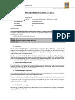 Pliego de Especificaciones Tecnicas Tacchii
