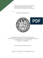 Informe de Pasant Terapia de Lenguaje