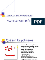 Ciencia de Materiales 7 Mat Poliméricos