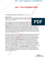 Indian Bank – Test of English 2009