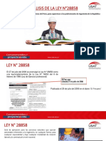 Analisis Ley 28858