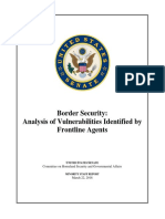 Senate Border Security Analysis of Vulnerabilities